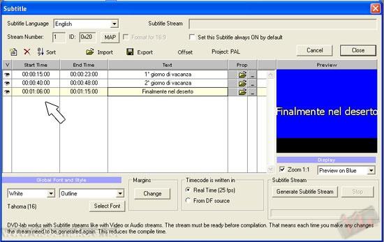 [DVDLab Pro] Realizzare un DVD con sottotitoli e più tracce audio