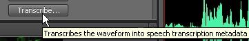[Adobe Soundbooth CS4] Speech Transcription