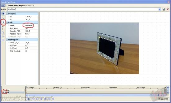 [Vegas 8] Inserire un video in una cornice ed utilizzo della camera virtuale