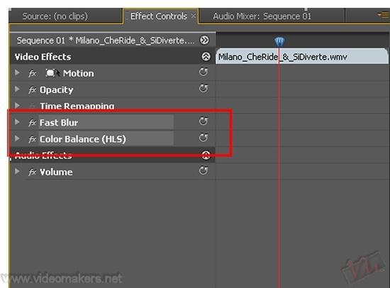 [Adobe Premiere Pro CS4] Creare catene d'effetti predefinite ed applicarle a più clip