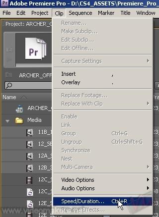 [Adobe Premiere CS4] Variare la velocità di più clip contemporaneamente