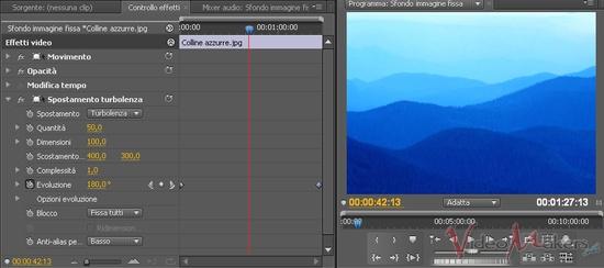[Adobe Premiere Pro CS4] Creare uno sfondo animato da immagine fissa