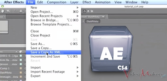[Adobe After Effects CS4] Esportazione in XML