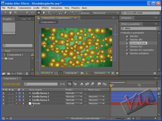 [Adobe After Effects CS4] Sfondo Animato con Livello Forma (videotutorial)