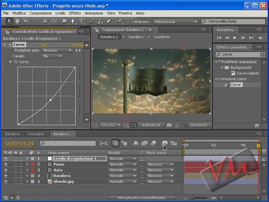 [Adobe After Effects CS4] Bandiera al vento (videotutorial)