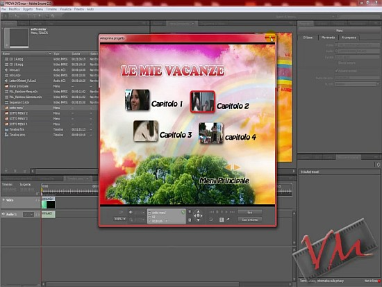 [Adobe Encore CS5] Videotutorial: Creare un DVD - Parte 2