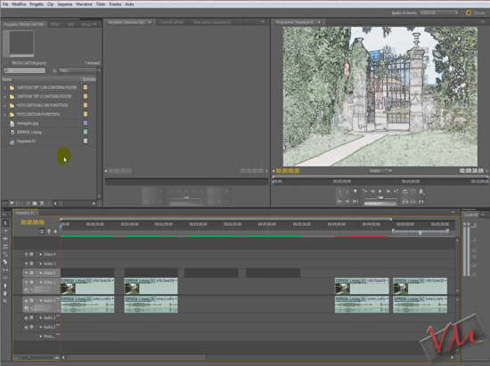 [Adobe Premiere Pro CS5] Videotutorial: Effetto Cartoon con Photoshop - 2