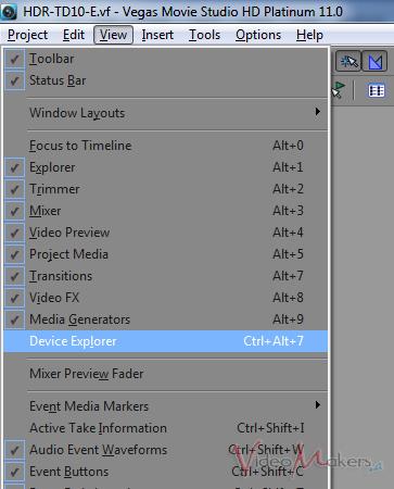 [Vegas Movie Studio HD 11] Sony HDR-TD10E – Import, Edit, Render