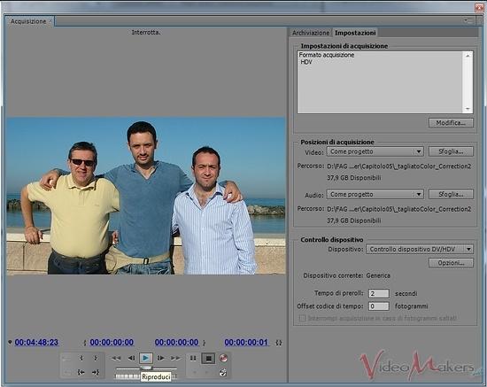 [Adobe Premiere Pro CS5.5] L'Acquisizione - Parte 1