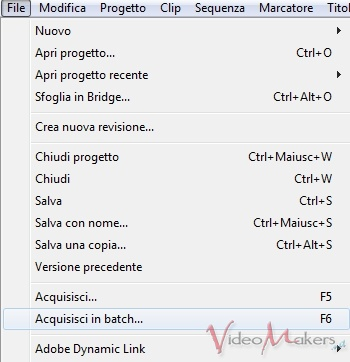 [Adobe Premiere Pro CS5.5] L'Acquisizione - Parte 2