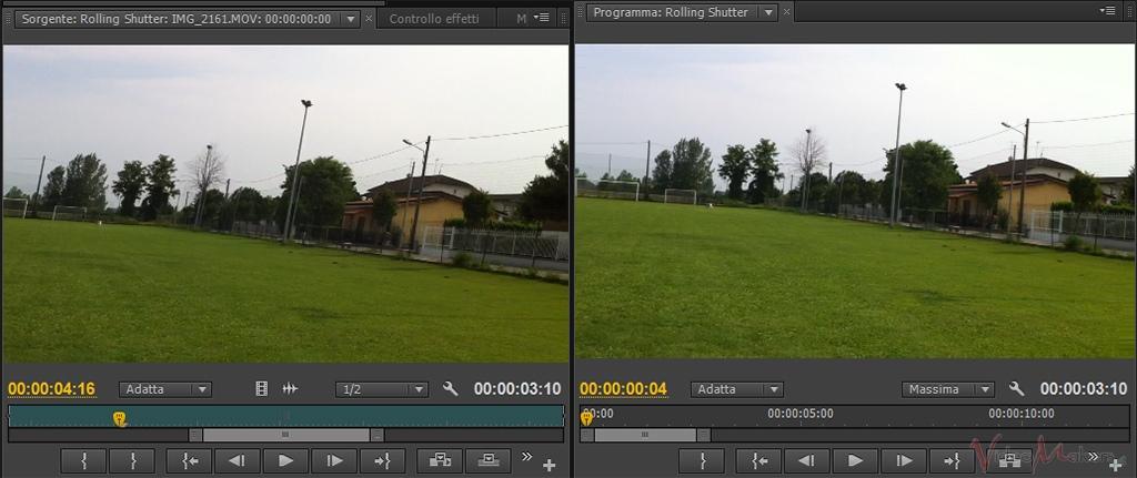 [Adobe Premiere Pro CS6] Rolling Shutter (Riparazione Scansione Lineare)