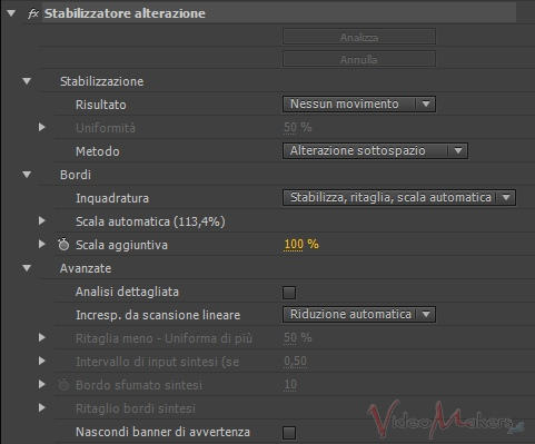 [Adobe Premiere Pro CS6] Stabilizzare un video col Warp Stabilizer