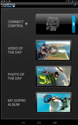 GoPro App 2.0 - Menu