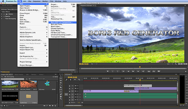 La release 5.4 di Boris RED, Blockbuster Titles 3D, Volume I, Bin Templates per Avid gratis