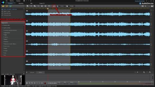 AudioDirector4 - Area Modifica