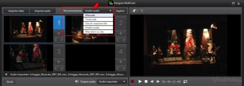 PowerDirector12 - Sincronizzazione Clip