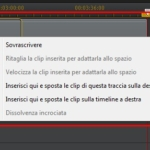 PowerDirector12 - Menu Sovrascrittura Clip