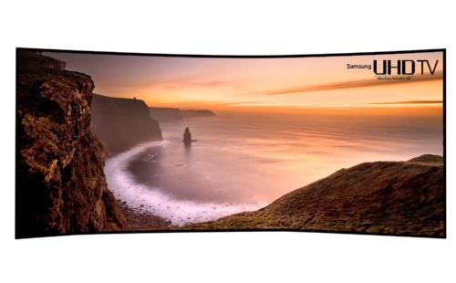 "Samsung UHD curved TV 105"""