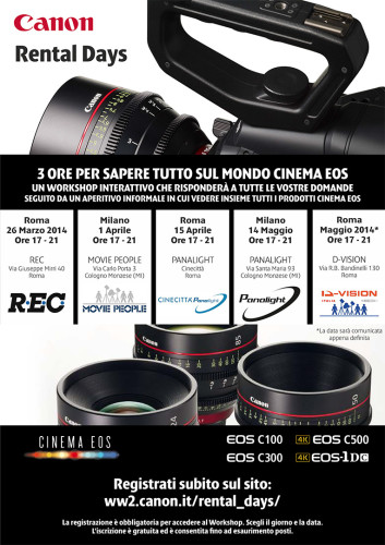Canon Rental Days