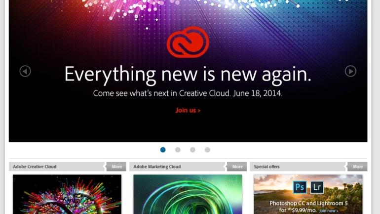 Adobe annuncia la nuovissima release 2014 di Creative Cloud