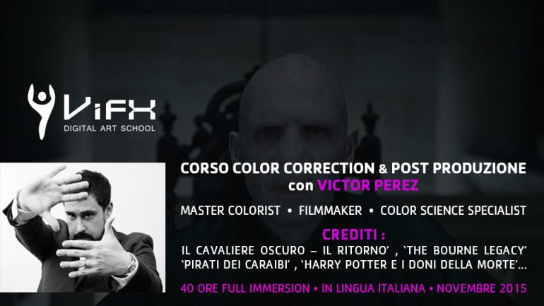 Corso di Color Correction e Post Produzione per Filmmakers Indipendenti