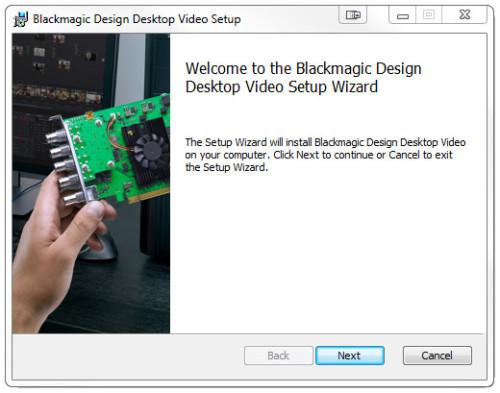 BMD Desktop Video Setup