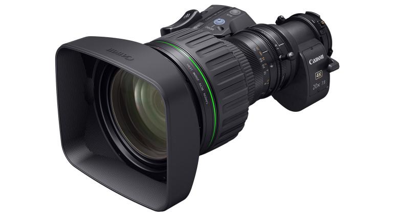 """Canon CJ20ex7.8B: il nuovo zoom  portatile 2/3"""" per videocamere 4K broadcast"""