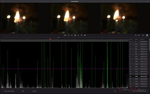 DaVinci Resolve 12 - Scene Detection