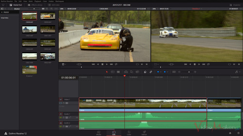 DaVinci Resolve 12 - Pagina EDIT