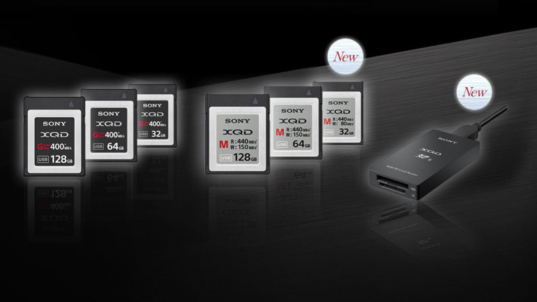 Sony: Nuove schede XQD ed SD e primo lettore di schede XQD/SD al mondo
