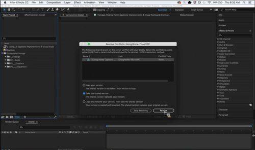 Adobe After Effects CC 2016 - Collaborazione In Team
