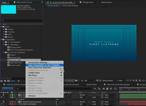 Adobe After Effects CC 2016 - Template Live Text
