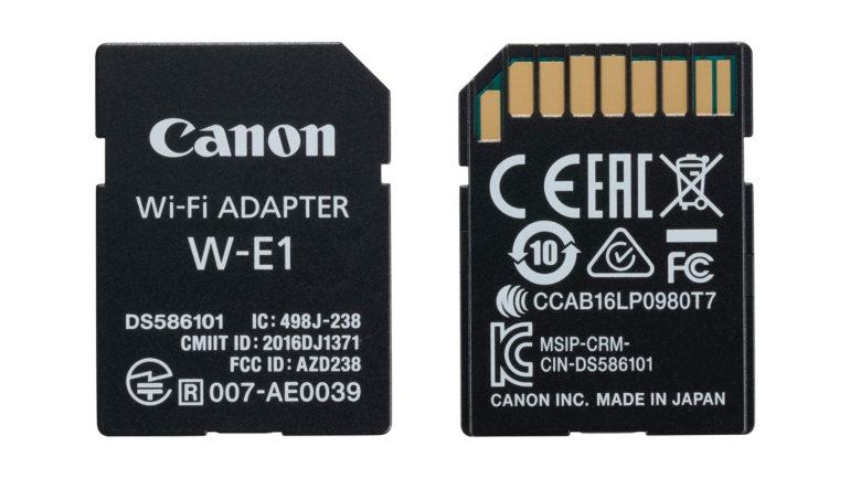 Trasferisci le tue immagini con il nuovo adattatore Wi-Fi Canon W-E1