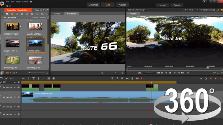 Corel annuncia Pinnacle Studio 20, con funzione editing video a 360 gradi