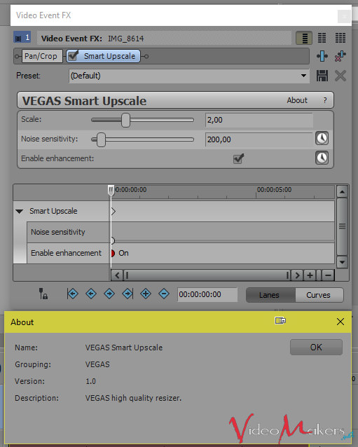 MAGIX VEGAS Pro 14 - Nuovo effetto video SMART UPSCALE