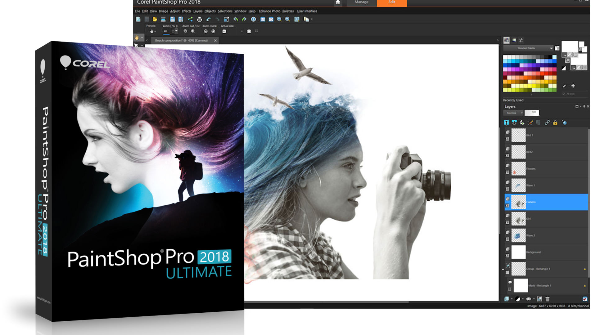 Corel PaintShop Pro 2018 audio video photo