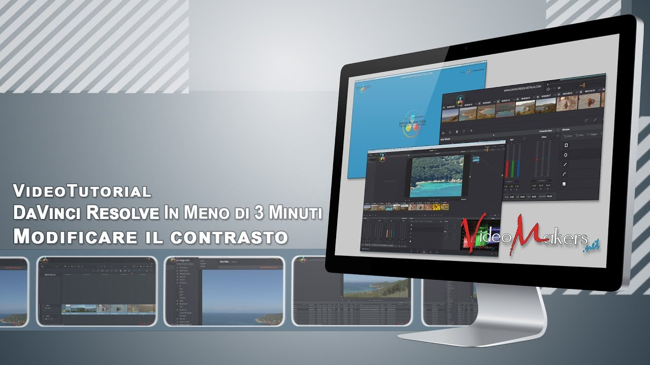 DaVinci Resolve 14 - Modificare Il Contrasto Di Una Clip
