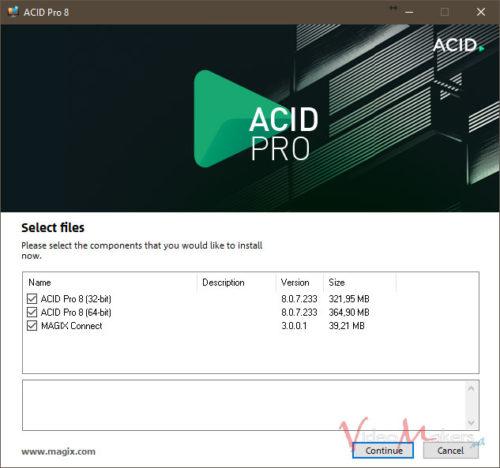 ACID Pro 8 - Installer