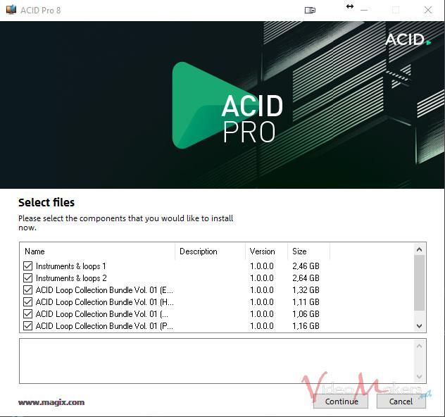 ACID Pro 8 - Download di Loop e Strumenti