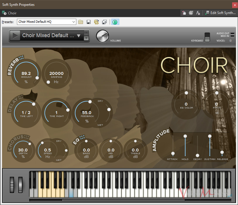 ACID Pro 8 - Strumenti VST: Choir
