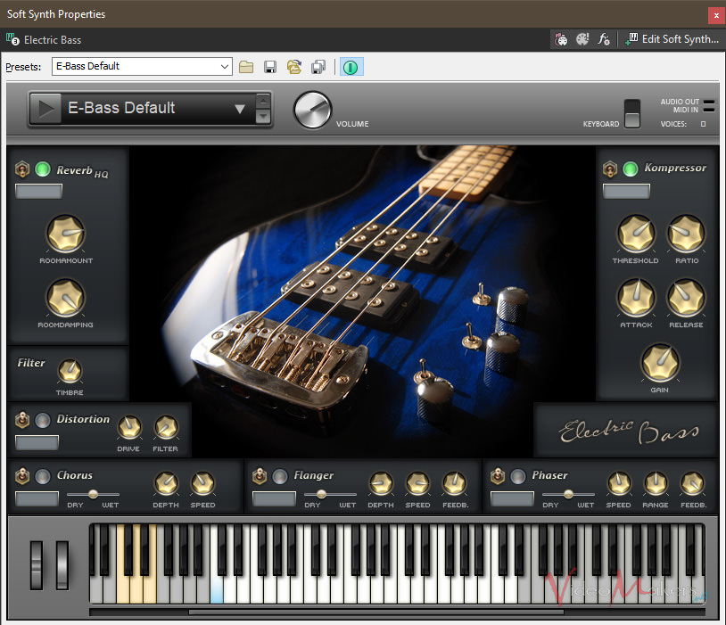 ACID Pro 8 - Strumenti VST: Electric Bass