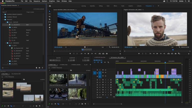 Adobe presenta Productions per Premiere Pro