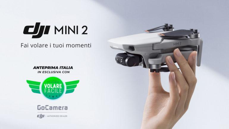 DJI Mini 2 atterra su GoCamera