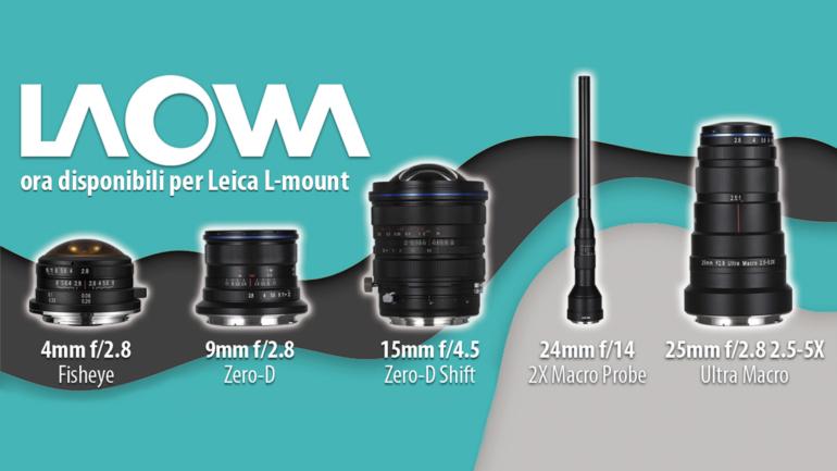 Laowa amplia la gamma di obiettivi con attacco L-mount