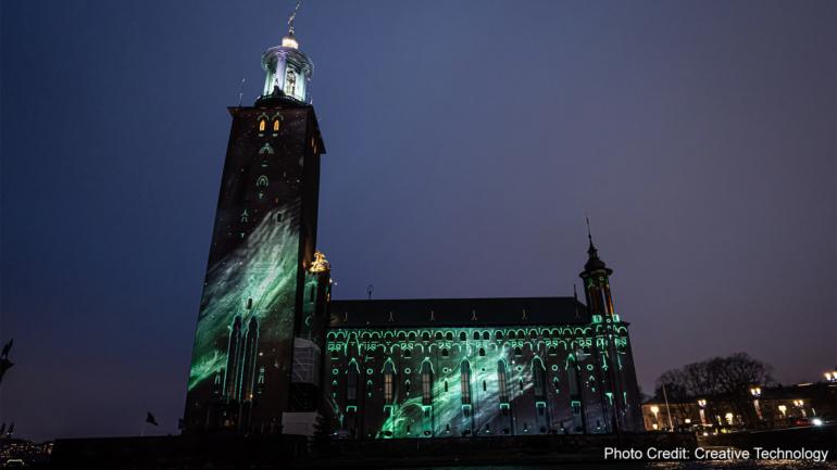 Panasonic: Spettacolare mapping alla cerimonia dei Nobel