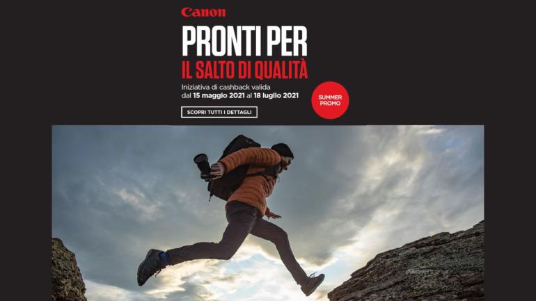 Canon: Summer Promo con rimborsi fino a 500€