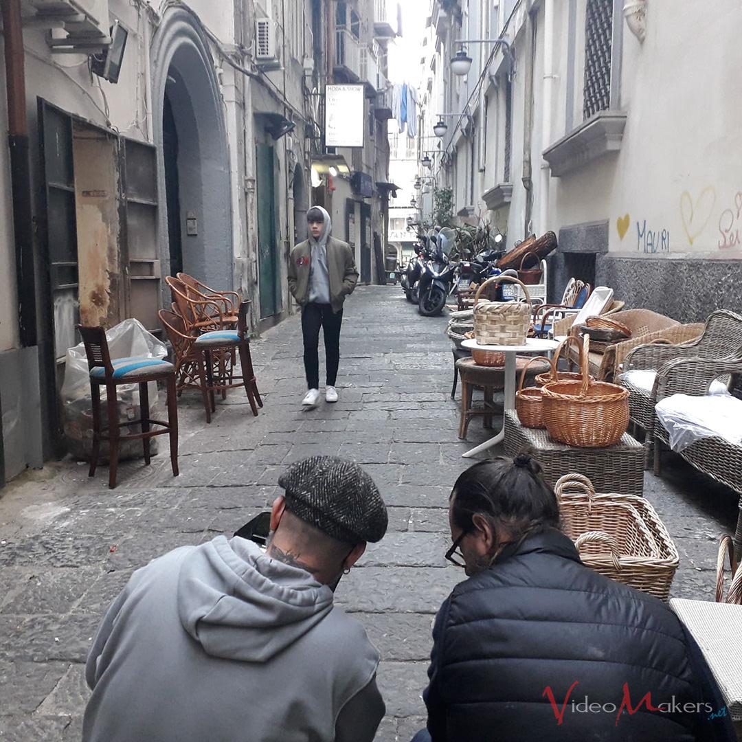 """Scatto durante le riprese di """"Guagliune"""" di Gigi D'Alessio"""